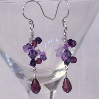 Image: Shades of Violet Dizzy Drop Earrings